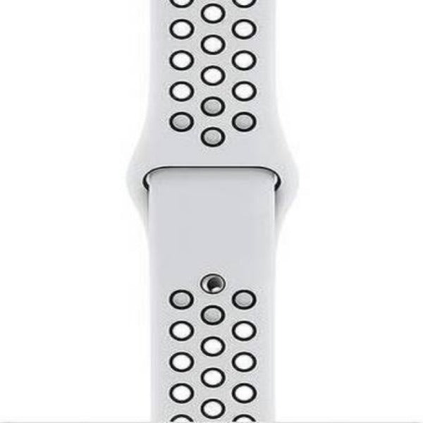 White Black Dotted Silicone Strap For Apple Iwatch (38mm/40mm)