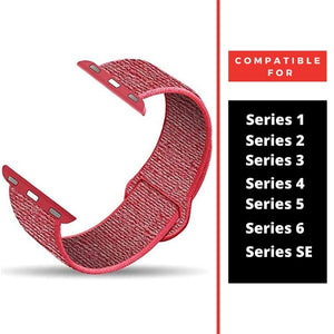 Red Nylon Strap For Apple Iwatch (38mm/40mm)