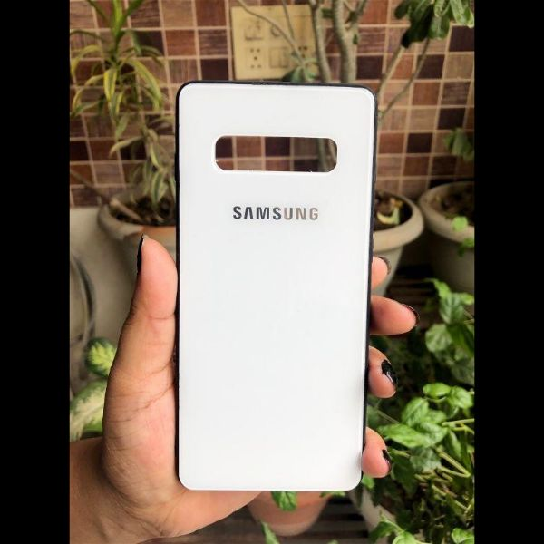 White mirror Silicone  Case for Samsung S10 plus