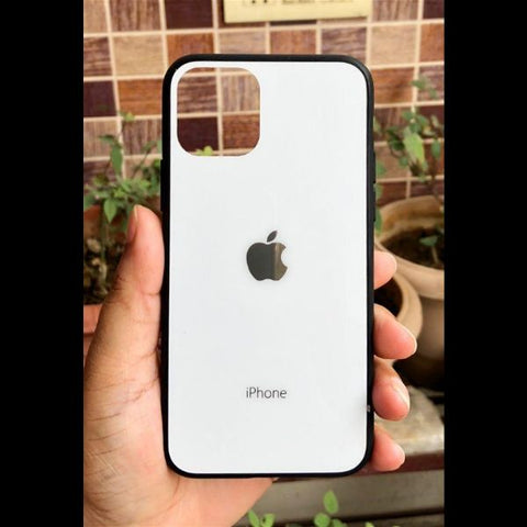White mirror Silicone case for Apple iphone 11