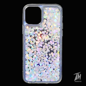 Grey Glitter Heart Case For Apple iphone 11 pro max