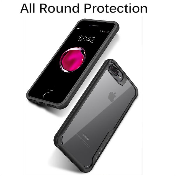 Shockproof Silicone Transparent Case for Apple iphone 8 plus
