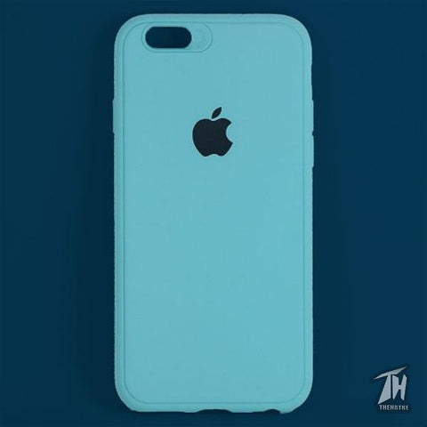 Light Blue Silicone Case for Apple iphone 8