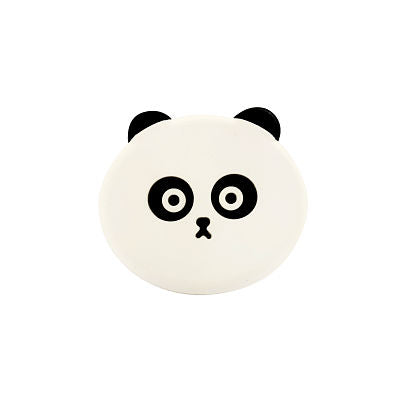 Silicon Engraved Popsockets combo : Panda and Black Flower