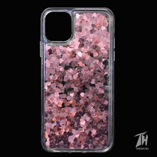 Pink Glitter Heart Case For Apple iphone 11 pro max