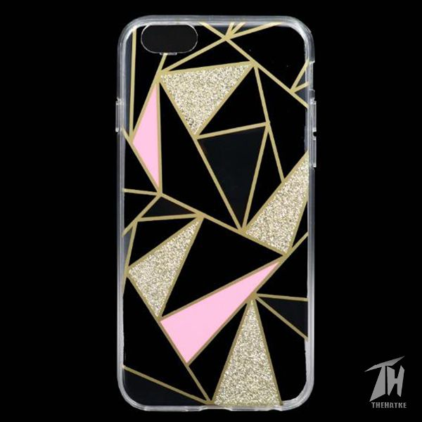Golden Stripes Transparent Silicon case for Apple Iphone 7