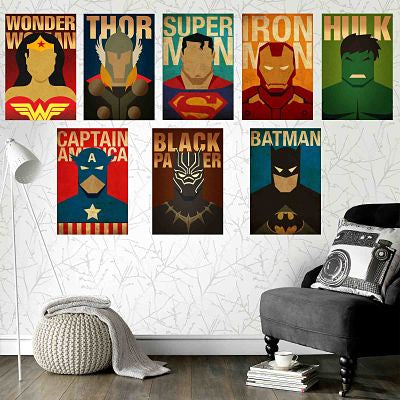 TOP SUPERHERO 8 POSTERS COMBO