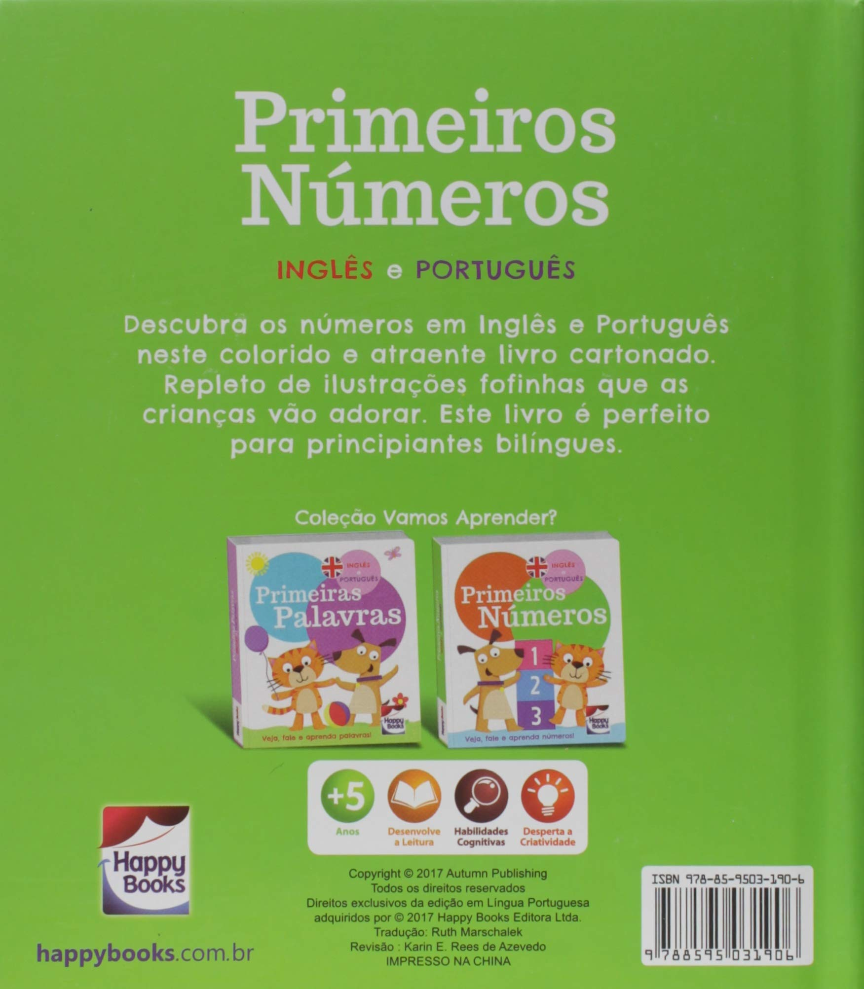 Primeiros Números: inglês e português  / First Numbers: english and portuguese