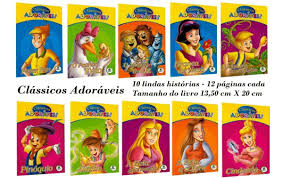 Clássicos de Sempre - kit com 10 Livros / Forever's Classic - kit with 10 mini books