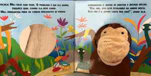 Fantoche da bicharada: hora de jantar da macaca/ Animal puppet: monkey's dinner time