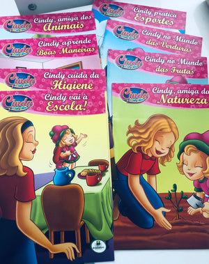 Cindy e sua turma - Kit com 10 livros / Cindy and friends: kit with 10 mini books