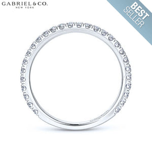 14Kt 0.42Ctw Natural Diamond Ring 1.9Mm Wed & Anniv