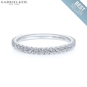14Kt 0.42Ctw Natural Diamond Ring 1.9Mm White Gold Wed & Anniv