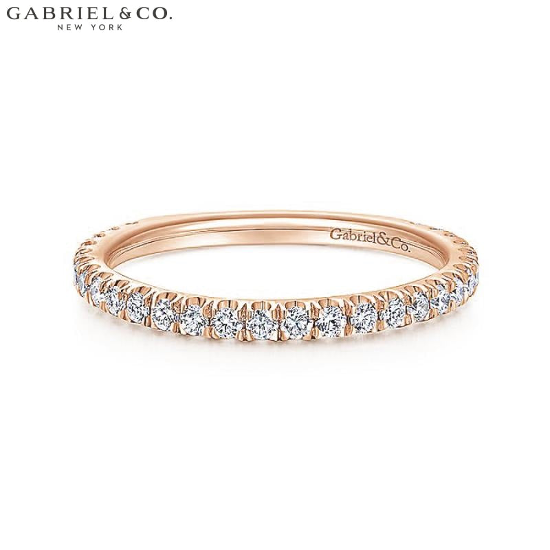 14Kt 0.42Ctw Natural Diamond Ring Rose Gold Jewellery