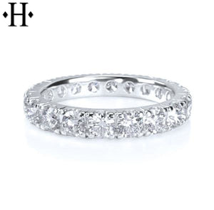 14Kt 3.5Mm Diamond Eternity Ring Wed & Anniv