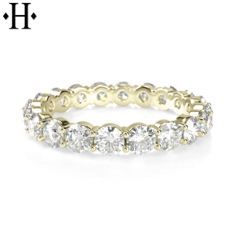 14Kt Diamond Eternity Ring 3.5Mm Wed & Anniv