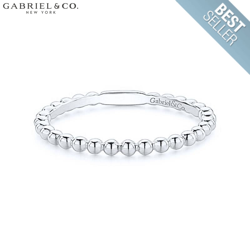 14Kt Stackable Ring White Gold Jewellery