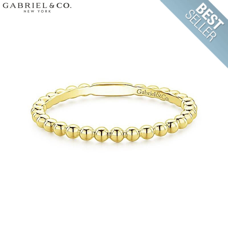 14Kt Stackable Ring Yellow Gold Jewellery