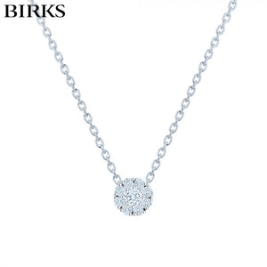 18KW Snowflake Diamond Necklace