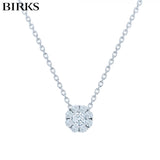 18kt Snowflake Diamond Necklace