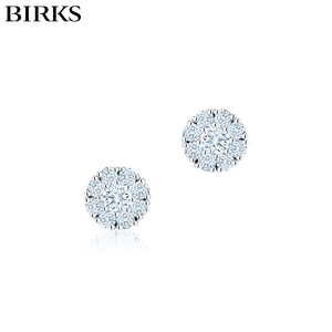 18KW Snowflake Diamond Earrings