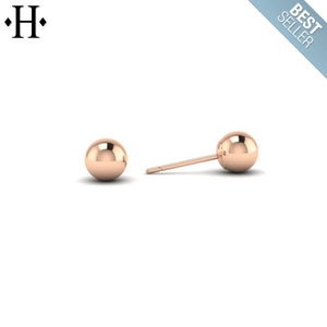 14kt Classic Ball Stud Earrings