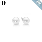 14KW 6mm Cultured White Akoya Pearl Earrings