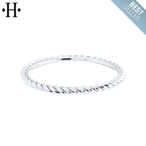 1.5mm Stackable Rope Ring