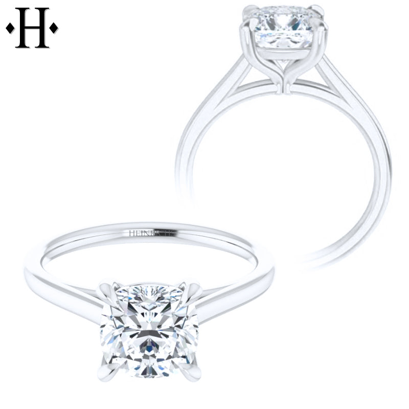 1.00ctr-1.50ctr Cushion Cut Diamond Customizable Ring