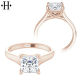 1.00ctr-1.50ctr Princess Cut Diamond Customizable Ring