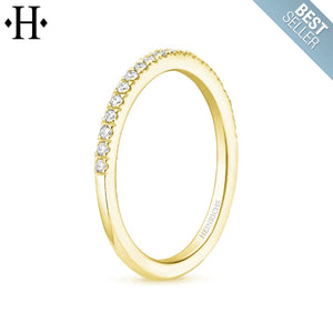 10kt 0.10ctw Natural Diamond Ring 1.5mm
