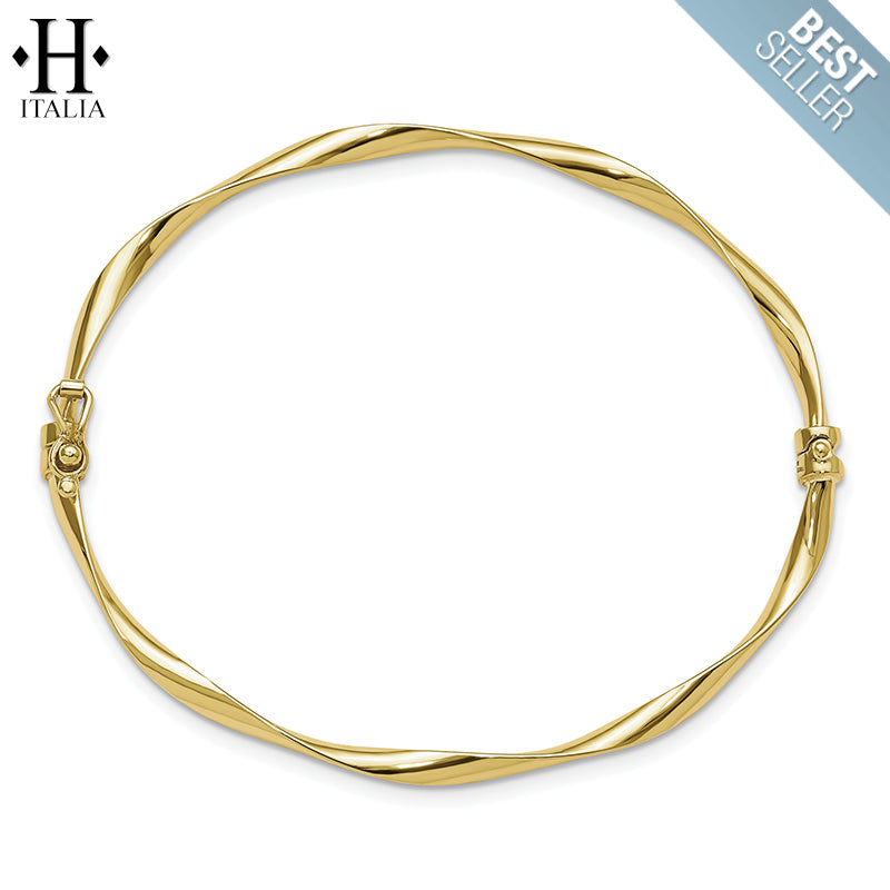 10kt Italian Signature Stackable Bangle
