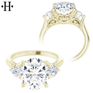 2.00ctr-3.00ctr Oval Cut Diamond Customizable Ring