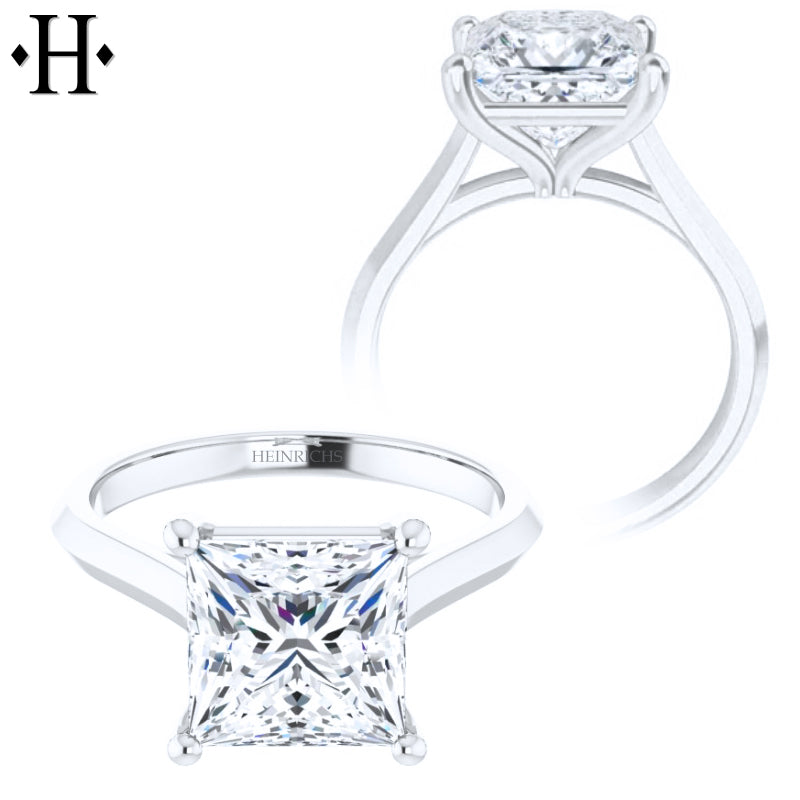2.00ctr-3.00ctr Princess Cut Diamond Customizable Ring