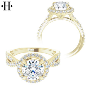 1.00ctr-1.50ctr Round Cut Diamond Customizable Ring