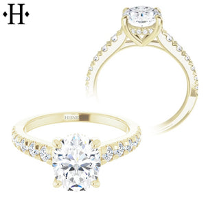 1.00ctr-1.50ctr Oval Cut Diamond Customizable Ring