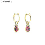 14kt Natural Diamond & Ruby Earrings