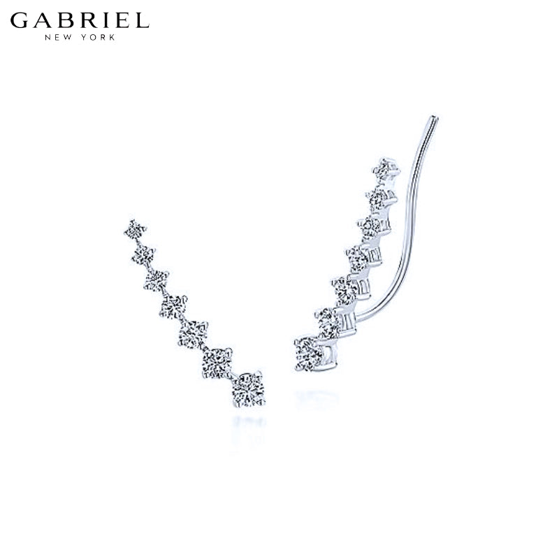 14KW 0.48ctw Natural Diamond Earrings
