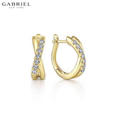 14kt 0.21ctw Natural Diamond Earrings