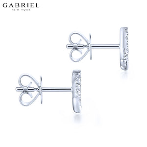 14KW 0.14ctw Natural Diamond Earrings