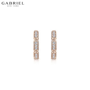 14kt 0.13ctw Natural Diamond Earrings