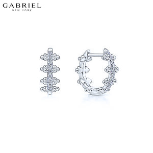 14kt 0.09ctw Natural Diamond Earrings