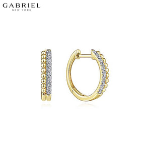 14kt 0.10ctw Natural Diamond Earrings