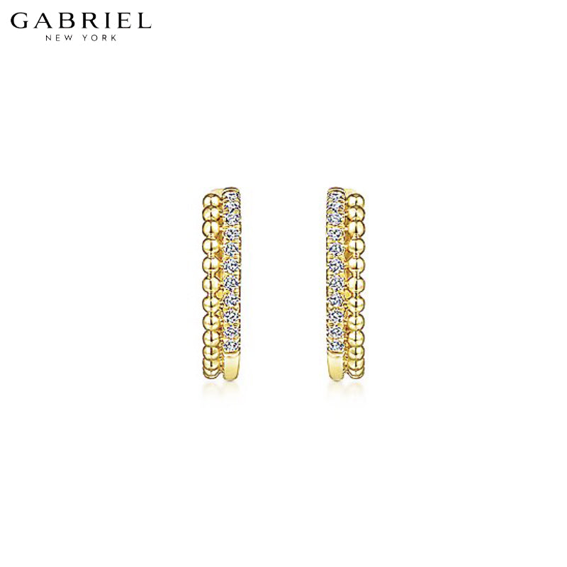 14kt 0.10ctw Natural Diamond Bujukan Earrings