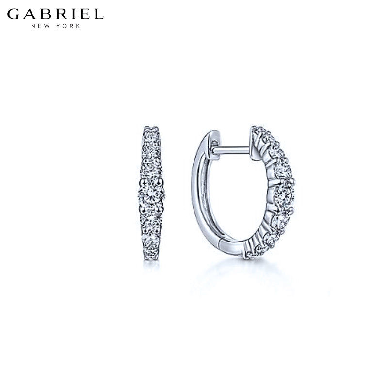 14KW 0.50ctw Natural Diamond Earrings