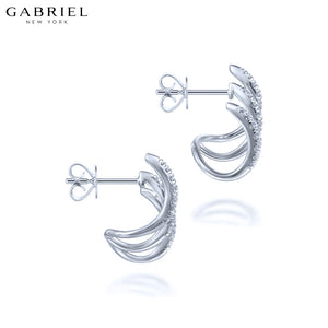 14KW 0.52ctw Natural Diamond Earrings