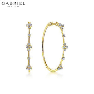 14kt 0.47ctw Natural Diamond Earrings