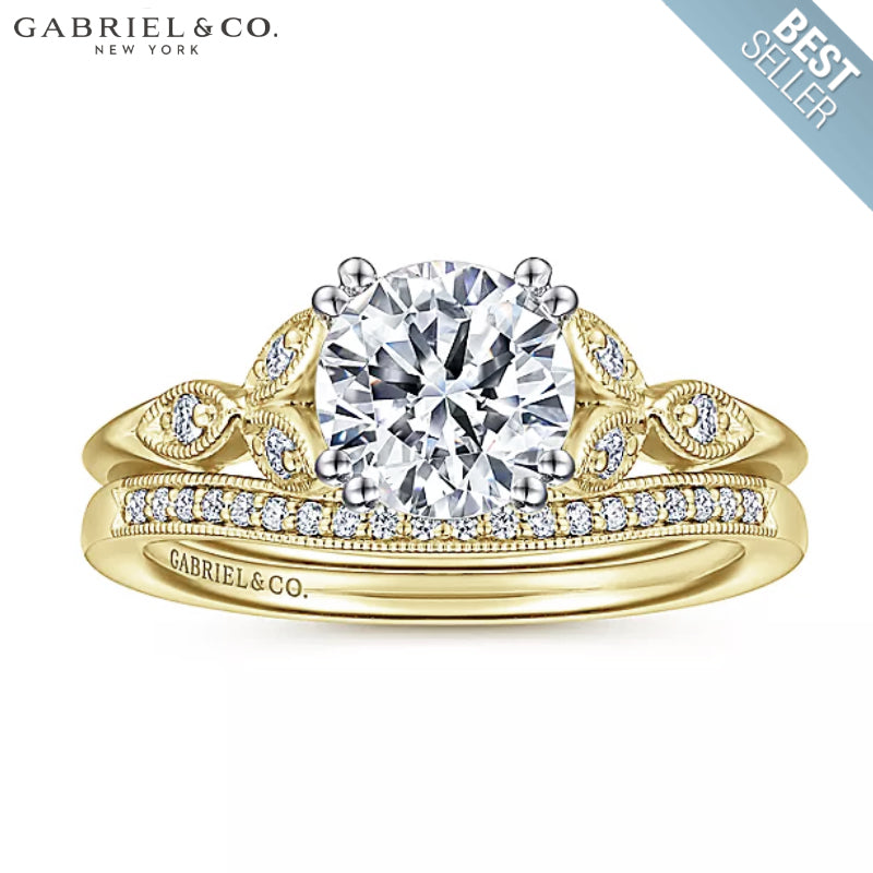 0.75ctr-1.50ctr Round Cut Diamond Customizable Ring