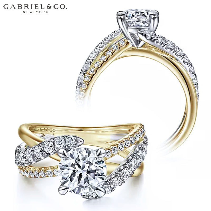 1.00ctr-2.00ctr Round Cut Diamond Customizable Ring