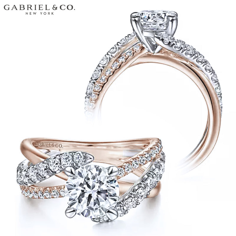 14kt Customizable Round Cut Diamond Ring (1.00ctr-2.00ctr)